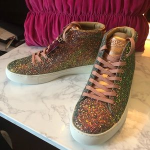 4f445e81b0a Skechers Shoes - Sketchers Glitter Sneakers Rose Gold Multi 9.5